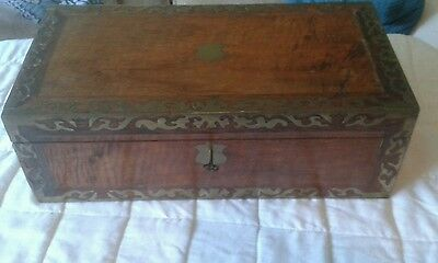 Antique writing slope with secret drawer, Victorian writing box