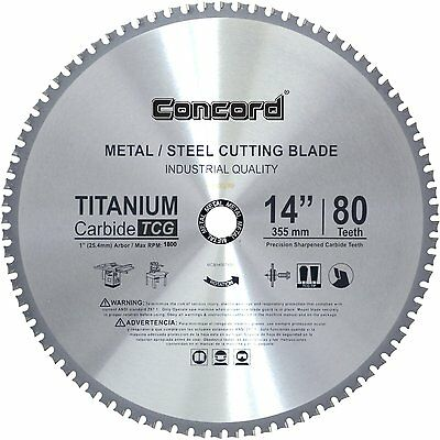Concord Blades MCB1400T080HP 14Inch 80 Teeth TCT Ferrous Metal Cutting Blade