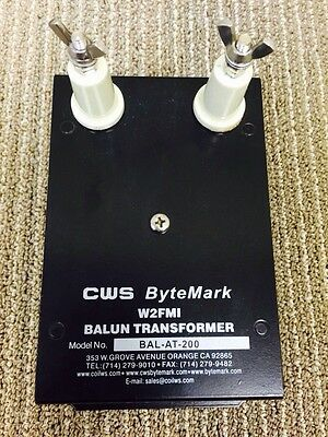 Balun 4:1 to match antenna tuner with antenna. Designed by Jerry Sevick WFMI