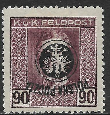 Poland stamps 1918 MI 28 Inverted Ovpt  signed Rachmanov  MLH  VF