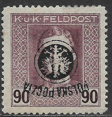 Poland stamps 1918 MI 28 INVERTED Ovpt  signed  MLH  VF