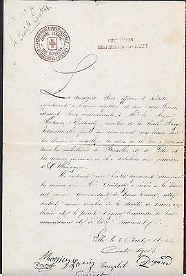 Switzerland covers 1871 interesting folded letter Central Commitee RED CROSS