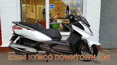 Kymco Downtown 300i WHITE, OUTSTANDING CONDITION, VERY LOW MILEAGE, FINANCE.