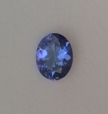 AAA Intense Blue Violet IGI Certified Oval Cut Natural Tanzanite 1.31 Ct