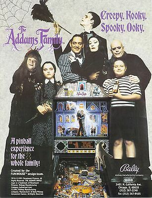 1992 Bally Midway The Addams Family Pinball Flyer
