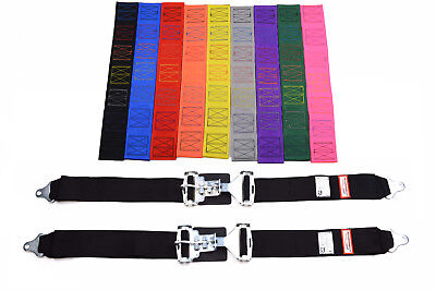 "Your Pick Of Thread And Belt Color New Pair 3"" Latch & Link Racing Lap Belts"