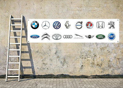 CAR LOGOS D4 workshop, garage, office or showroom pvc banner