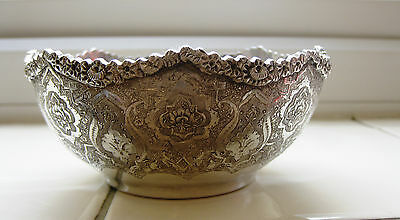 VINTAGE PERSIAN(Islamic/Middle Eastern)SOLID SILVER BOWLS Museum quality