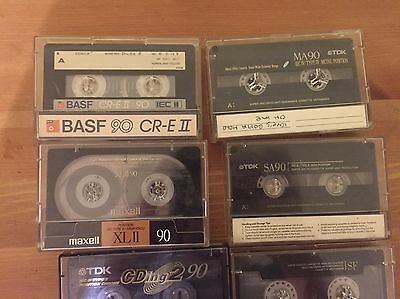 Collection Of 13 Cassette Tapes Chrome And Metal Tdk Maxell