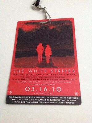 White Stripes Under Great White Northern Lights Backstage Pass Lanyard Promo
