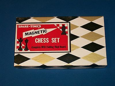 Spare Time's Magnetic Chess Set New Old Stock MIOB! Great For Travel!