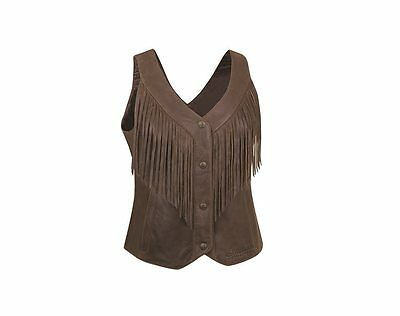 Women's Fringe Vest - Brown - by Indian Motorcycle®