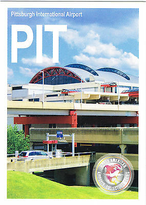 PIT Collectible Airport Trading Card Pittsburgh International Pennsylvania