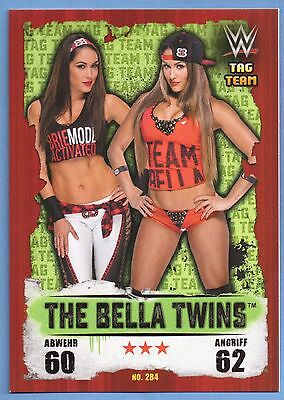Topps WWE Slam Attax Takeover Karte Nr.284 The Bella Twins