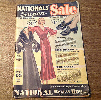c1930s National Bellas Hess Inc. National's Super Sale Clothing Catalog
