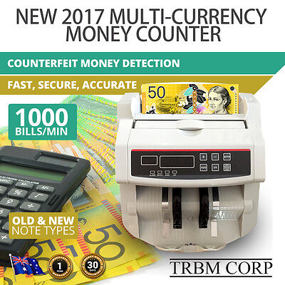 NOTE COUNTER Automatic Digital Cash Counting Machine Counterfeit Detection 2017