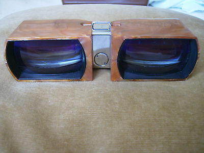 Unique Mother of pearl Vintage Russian USSR theatre binocular with case