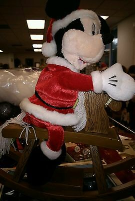 Disney Gemmy CHRISTMAS  Mickey Mouse Rocking Horse Musical