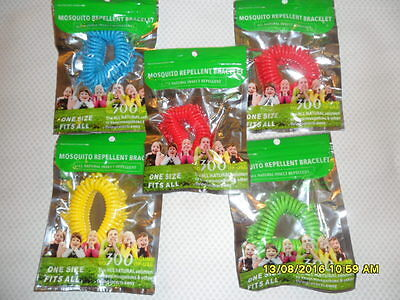 5 Piece Mosquito Insect Repellent Repeller Bug  Wrist Band Camping Outdoor Sp