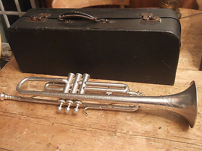 Vintage Pro Mello-Dee Silver And Gold Plated  Trumpet