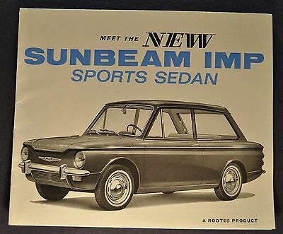 1964 Sunbeam Imp Sports Sedan Brochure Folder US Market Excellent Original 64