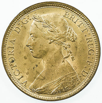 Great Britain, Victoria Halfpenny, High Grade With Lustre, 1885