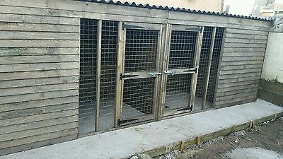 Wooden Dog Kennel And Run  16Ft X 4Ft