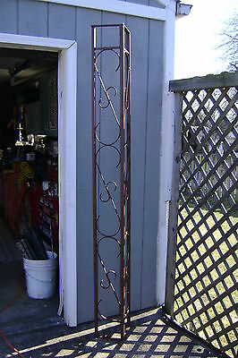 VINTAGE Corner Porch Post SOLID STEEL BARS WITH SCROLL WORK. ORNAMENTAL IRON
