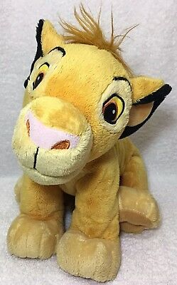 "LION KING MC SIMBA 13"" Disney Store Stuffed Animal Figure Plush Toy Young Cub"