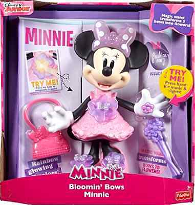 Minnie Mouse Fisher Price Disney Bloomin Bows Minnie Singing 10 Inch Doll Figure