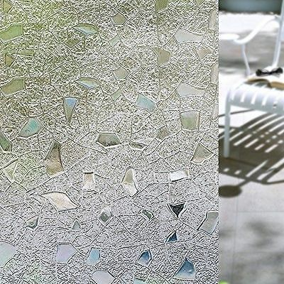 3D Static Self Adhesive Contact Window Film For Window Glass - 45cm x 200cm