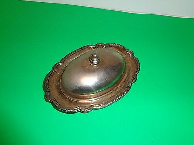 Castle Silver, Silver Over Copper,Silver Plated Butter Dish,Vintage.