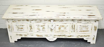 NEW Hand Carved Shabby Chic French Country Chest Blanket Box Coffee Table