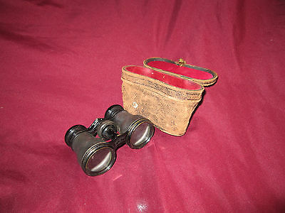 Vintage Deraisme Paris Field Glasses/Binoculars and Case