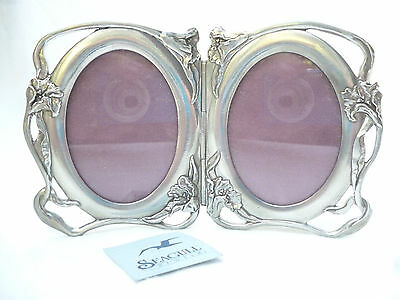 ART NOUVEAU STYLE PEWTER FREESTANDING PICTURE FRAME by SEAGULL PEWTER, Canada