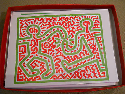 1 pc Keith haring christmas holiday  card untitled 1983, Joy
