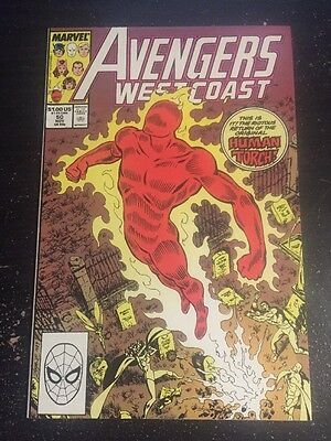 West Coast Avengers#50 Incredible Condition 9.0 Byrne Art(1989) Torch /Iron Man