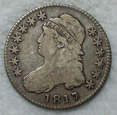 1817/3 1817 over 3 BUST SILVER Half Dollar O-101 Variety RARE R.3 Overdate