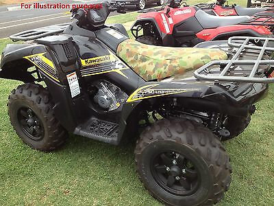 Yamaha YFM 300 GRIZZLY ATV QUAD Camo canvas seat cover
