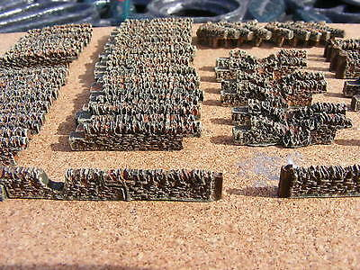 n gauge stone walling train set layout railway scenery 70 sections full painted
