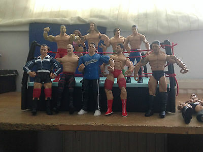 WWE/WWF Wrestling Figures & Ring Bundle/Joblot - Total 18 Figures