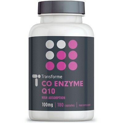 CoQ10 100mg 90 180 Softgels Fast Absorption Liquid Co Enzyme Q10 by Transforme