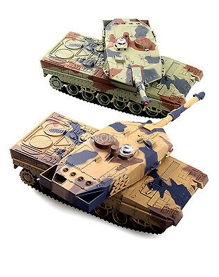 a pair(two tank) 2.4G Battle Tank Rechargeable battery RC Russia Tanks Gift