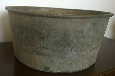Large Cast Galvanised Steel Metal Planter Pot Tub Garden Trough Diameter 14""