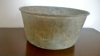 "Large Cast Galvanised Steel Metal Planter Pot Tub Garden Trough 14"" ST & S 1943"