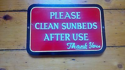 Reclaimed Vintage 70's 80's Hand Painted Sunbeds Wooden Sign Instructions