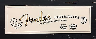 Late 50's Early 60's style Fender Jazzmaster Waterslide Decal