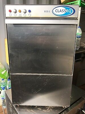 Classeq Eco 2 Commercial Glass Washer/ Bar Restaurant Dishwasher, Reduce