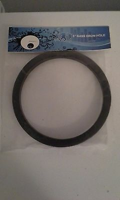"""NEW - 6"""" Bass Drum Port Hole Protector, Black, Easy to Install!"""