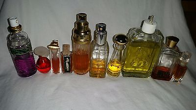 Vintage Used Women's Colognes  Lot Of 9 Mixed
